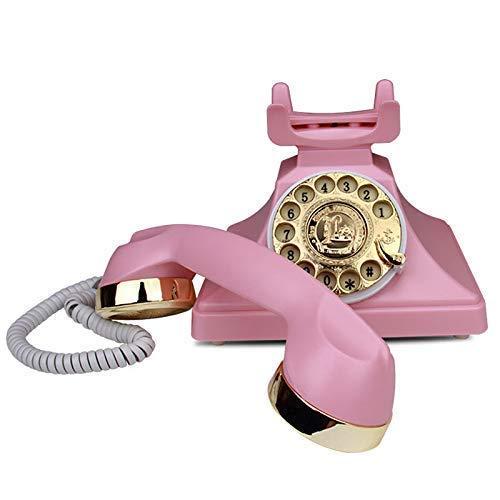 N/Z Life Equipment Phone Teléfono Fijo Antiguo Teléfono Antiguo Teléfonos de casa Mesa de Escritorio Oficina en casa Cable en Espiral Auricular/Botón de marcación Conector telefónico estándar