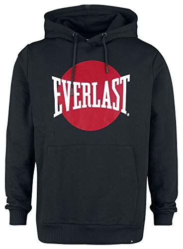 Everlast S20MSG-SW007 Hombre Sudadera con Capucha Negro M, 100% algodón, Regular