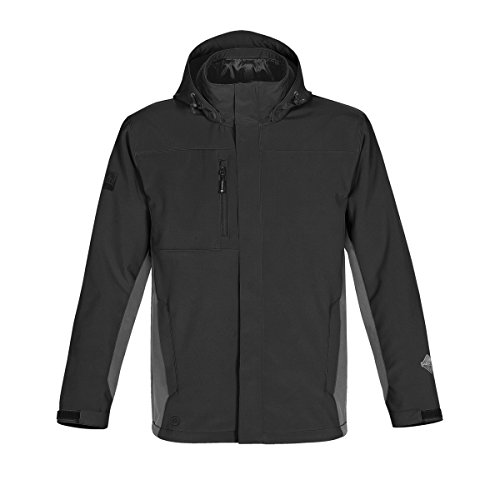 Stormtech - Chaqueta impermeable y transpirable modelo Atmosphere para hombre (Extra Grande (XL)/Negro/granito)