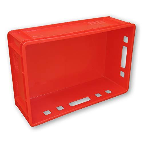5 Stück E2 Kisten 60x40x20 cm Fleischkiste Lagerkiste Metzgerkiste Eurobox rot