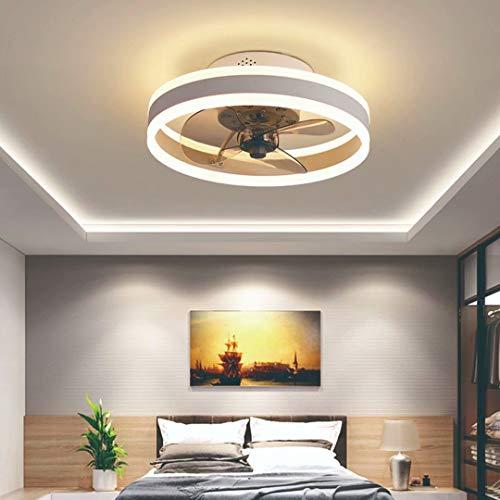 Ventilador de Techo con Luz Lámpara LED 48W Ventilador Invisible Plafon Control Remoto con Mando a Distancia Luz Regulable Luz Fría/Neutra/Cálida Luces Regulable