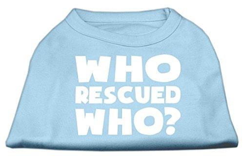 Mirage Wie Redde Wie Scherm Print Shirt, X-Large, Baby Blauw