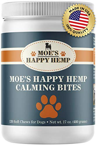 Organic Calm Hemp Treats for Dogs: Dog Anxiety Relief and Calming Aid for...