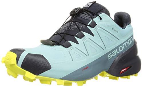 Salomon Women's Speedcross 5 GTX Trail Running Shoe (Pastel Turquoise/Ebony/Evening Primrose, Numeric_9)