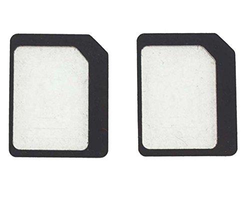 2枚売り NanoSIM ナノSIM を MicroSIM マイクロSIM に変換アダプター スマホ iPhone iPad iPadMini スマホ