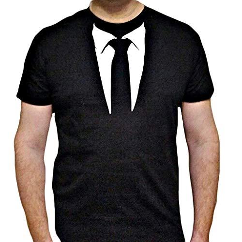 MEIbax Explosión Moda Corbata Estampada Camiseta de Hombre Deportes de Ocio Cuello Redondo Manga Corta de los Hombres Corriendo Fitness Tops de Hombre Verano Ropa Deportiva para Hombres