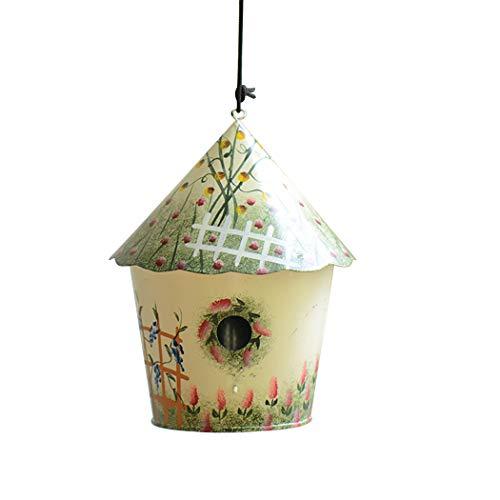 Justdolife vogelhuisje landkunst drukvogel hangend huis