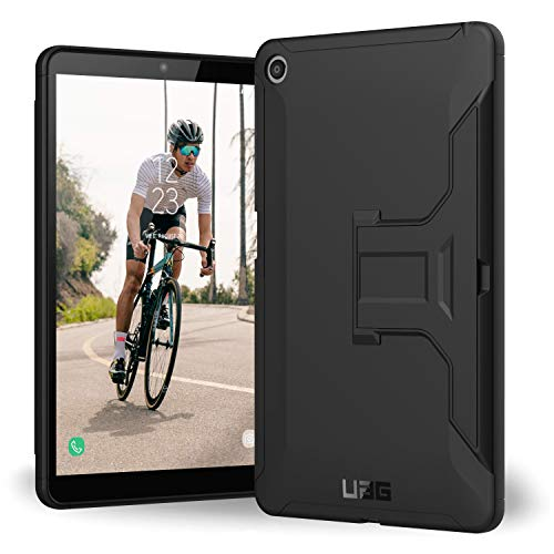 URBAN ARMOR GEAR UAG LG G Pad 5 10.1, Tablet Case with Built-in Kickstand, Scout Feather-Light Rugged [Black] Military Drop Tested Case