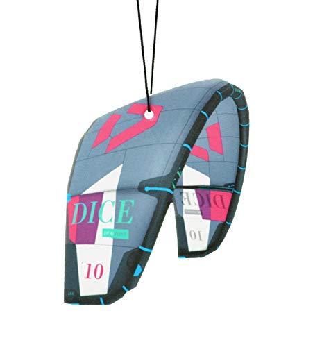 Fresh Kitesurfing Kitesurf Kite Ambientador de árbol Aroma Sunset Beach   Kite deodorante per Auto (Duotone Dice) ✅