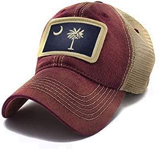 South Carolina Flag Patch Trucker Hat, Brick Red