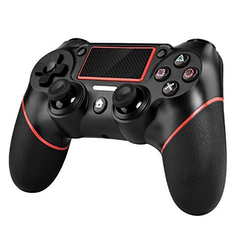 Wireless controller für PS4/Slim Pro und PC (Windows 7 / 8 / 10),Bluetooth Gamepad mit Dual-Vibration 6-Achsen Rechargable Remote Controller,PS4 controller joystick Schwarz