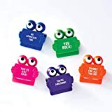 Privacy Web Cam Covers - Pack of 5, 1 of Each Color - Motivational Messages - Employee Appreciation and Recognition Gift