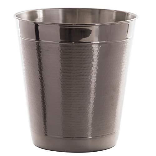 BINO Metal Waste Basket Bathroom Trash Can for Bedroom Home Office Dorm College Kitchen
