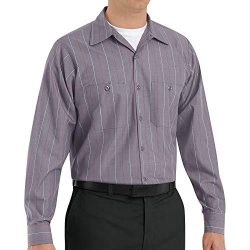 Red Kap mens Long Sleeve Industrial Stripe Work Shirt