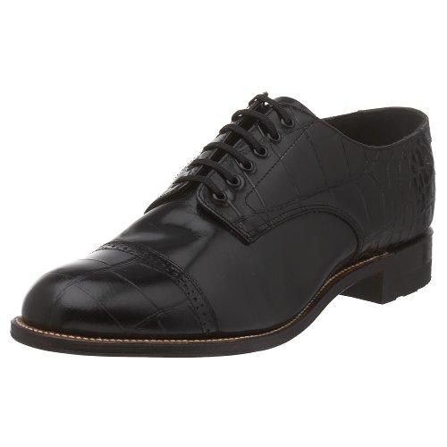 Stacy Adams Men's Madison Croco Cap-Toe Oxford,Black,11.5 D