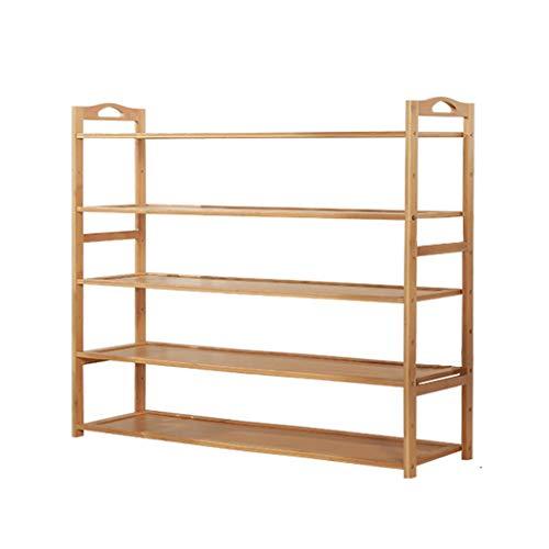Shoe rack Zapatero de madera maciza simple para el hogar, multifuncional, para ahorrar espacio en el hogar (tamaño 100 x 87 cm)