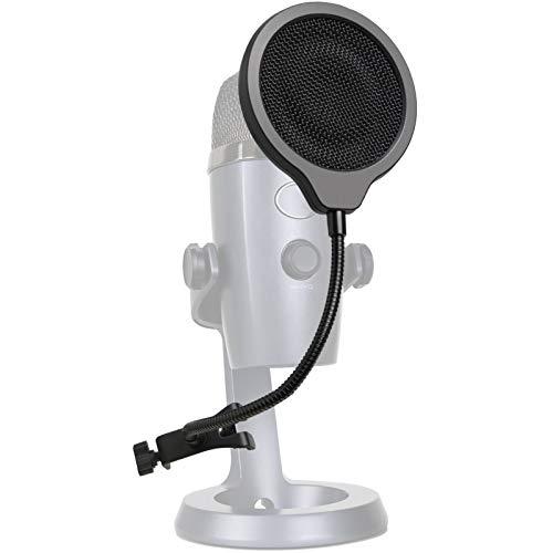Nano Filtro Anti Pop con Cubierta de Espuma - Tres Capas Filtro Antipop y Espuma Microfono Blue Yeti Nano Mic por YOUSHARES