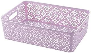 Lpiotyucwh Paniers et Boîtes De Rangement, Boîte à bacs de rangement empilable de 2 pcs, pour jouets, articles de soleil, ...
