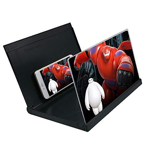 Telefon-Screen Magnifier 12 Zoll Falten-able Telefon-Standplatz, Smartphone-Bildschirm-Projektor für Filme, Videos und Spiele,12 inches