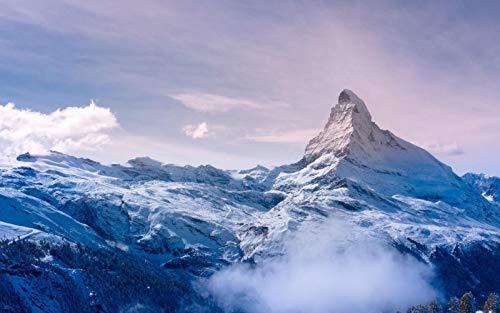 WSQYYY 1000 Stück Puzzles aus Holz Matterhorn Alpengipfel am Morgen Lustige Puzzle-Familienkinder-Lernspiele