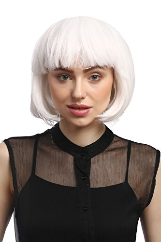 WIG ME UP- Peluca Corta de Pelo Bob Color Blanco Fiesta Disco GO GO Girl PW0114-P60