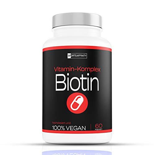 Haut Haare Nägel Vitamine [Hochdosiert] » Biotin Tabletten 10.000 mcg + Selen + Zink - gegen Haarausfall « Hair Growth - Haarwachstum 10000 mcg Frau - Haar Vitamin für Frauen & Männer - 60 Kapseln