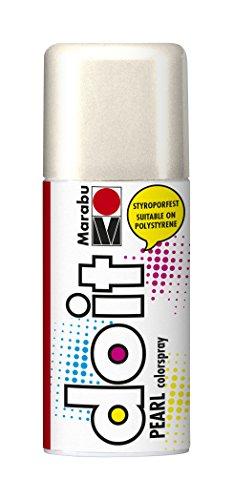 Marabu 21076006270 - Do it Pearl perlmutt weiß, Colorspray auf Acrylbasis, styroporfest, sehr schnell trocknend, halbdeckend mit zart schimmernder Optik, für helle Untergründe, wetterfest, 150 ml