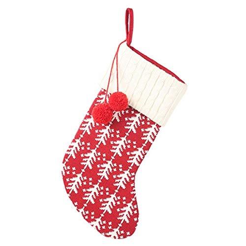 LLAAIT Gebreide Kerst Kousen Gift Houders Met Twee Pom-Poms Xmas Opknoping Boom Open Haard Ornamenten Chrismas Decorations Sokken, als de foto,Verenigde Staten