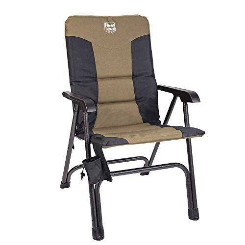 Timber Ridge Camping Folding Chair High Back Portable with Carry Bag Arm Chair...