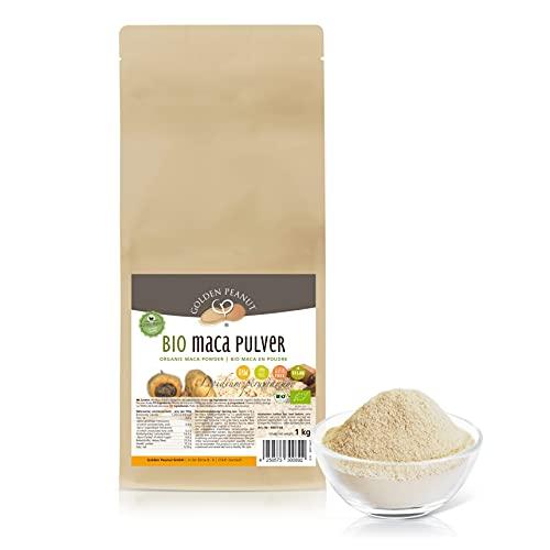 Bio Maca Pulver 1 kg | Echte Macawurzel, gemahlen | Premiumqualität | Powerwurzel |ohne Zusätze | glutenfrei | vegan | Golden Peanut