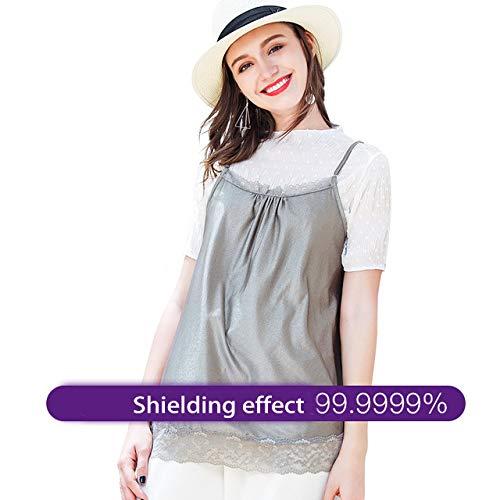 VCXZ Tuta Anti-Radiazioni, Abbigliamento Premaman Anti-Radiazioni, Imbracatura Anti-radiazione in Fibra d'Argento,XL