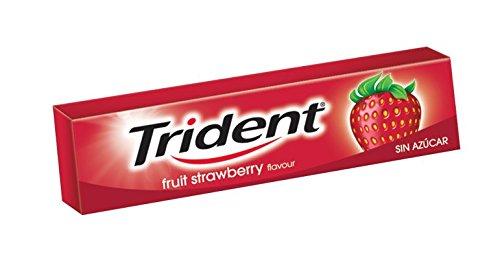 Trident Fresh Stick Fresa - Chicles sin Azúcar con Sabor a Fresa - Paquete de 24 Envases de 13,5 g