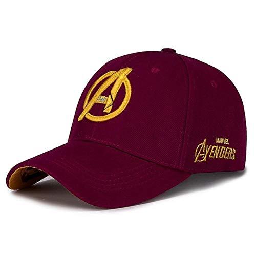 WULIAN Unisex Marvel Avengers Logo Stickerei Lässig Outdoor Baseball Caps Streetwear Snapback Caps Für Erwachsene Trucker Cap, 3, verstellbar