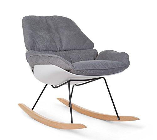 Childhome - Rocking Stuhl Lounge Weiss und Grau