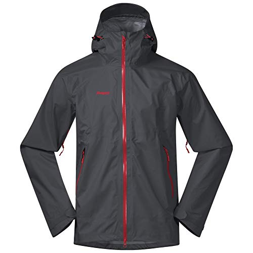 Bergans Letto Jacket Men Größe M solid Dark Grey/fire red