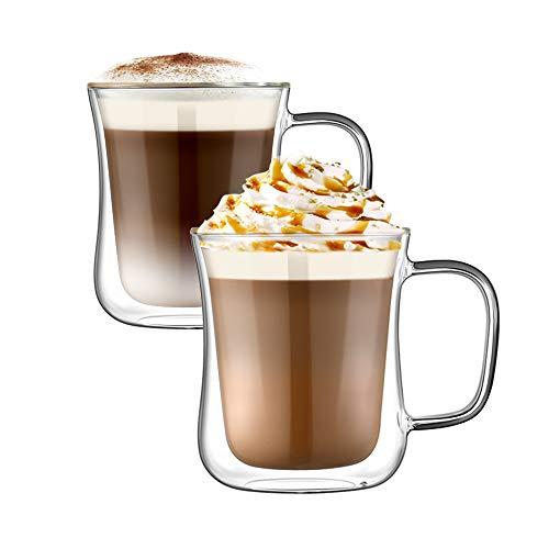 Ehugos Doppelwandige Gläser Set Thermoglas Kaffeeglas Trinkgläser...