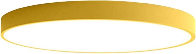 PUCHIKA LED plafondlamp ultradunne plafondlamp bureaulamp rond woonkamer kinderkamer lampen 40cm 24W zwart