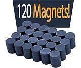Boston Fridge Magnet Ceramic Ferrite Magnets Bulk 120 Small Magnets for Crafts Art Office DIY Industrial Tools Kitchen Refrigerator Round Disc Super Strong Magnets for fridge - Grade 11 0.78' X 0.20'