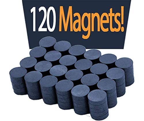 "Boston Fridge Magnet Ceramic Ferrite Magnets Bulk 120 Small Magnets for Crafts Art Office DIY Industrial Tools Kitchen Refrigerator Round Disc Super Strong Magnets for fridge - Grade 11 0.78"" X 0.20"""