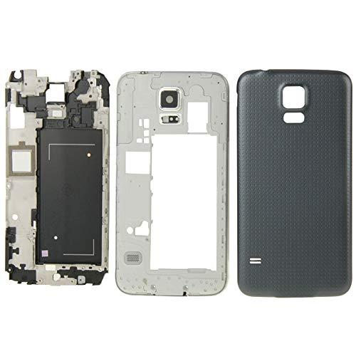 Tangyongjiao Tapa Trasera del teléfono Cubierta de Placa Frontal de Carcasa Completa para Galaxy S5 / G9008V Accesorios para Celular