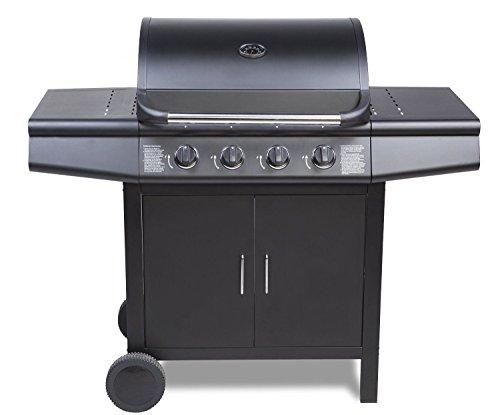 Fireplus 4+0 Gas Burner Grill BBQ Barbecue - Black