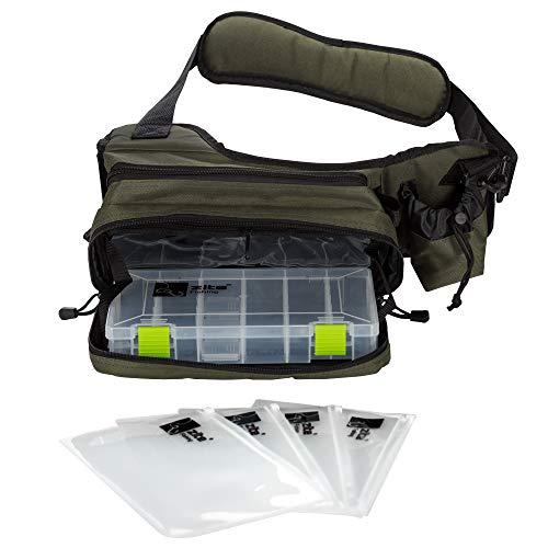 Zite Fishing Sling-Bag Umhängetasche Angeln - Angeltasche zum Umhängen & Spinnfischen - Bauchtasche mit Tackle-Box