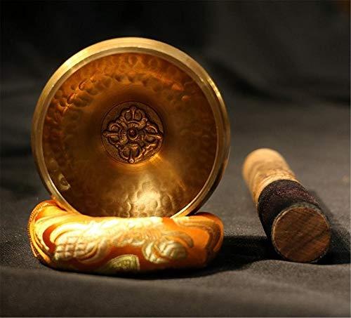 ClothHouse Juego de Cuencos tibetanos Hechos a Mano de 8 cm con símbolo de Vajra Cruzado, para sanación con Sonido, meditación, relajación, Equilibrio de Chakras
