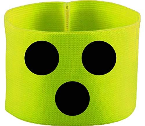 gummieelastische Armbinde/Mediaband bedruckt mit Blindenpunkten (SENIOR 28 cm) (Farbe neongelb)