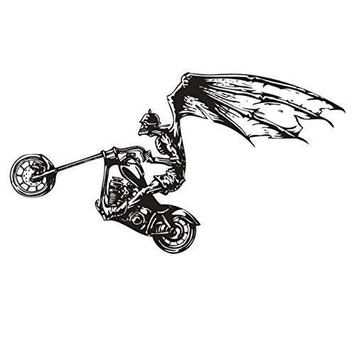 mlpnko Moto Sticker Voiture Bat Applique Classique Affiche Vinyle Sticker Moto Cross Country Décoratif Murale Moto Autocollant 174x261cm