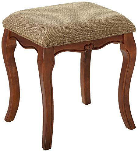 Design Toscano Chaise de Maquillage Lady Guinevere Banc de Chambre à Coucher de Tabouret de Commode, 50.75 cm, bois dur, cerise