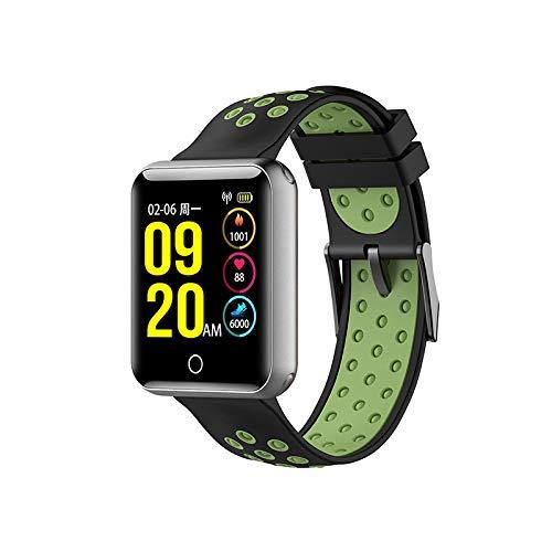 Smart Watch 1,54 Inch Groot Kleurenscherm Telefooninformatie Synchronisatie Mobiele Telefoon Metalen Body Sport Stappenteller