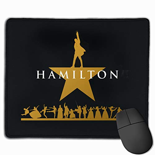 epilimnion Hamilton Computer Gaming Mouse Pad Laptop Pad Non-Slip Rubber Stitched Edges 11.8 X 9.8 Inch