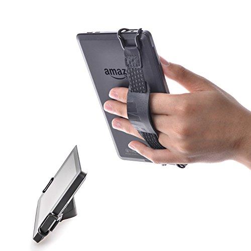 TFY 安全ハンドストラップ +レザーベルト ホルダースタンド - Kindle Voyage, 6 インチ / Kindle Paperwhite, 6 インチ / Kindle Fire 6 インチ