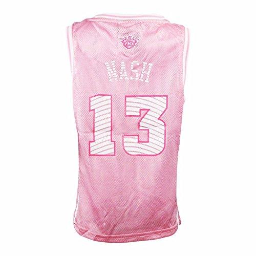 adidas Steve Nash Phoenix Suns NBA Pink Official Fan Fashion Basketball Jersey for Girls (L (6X))